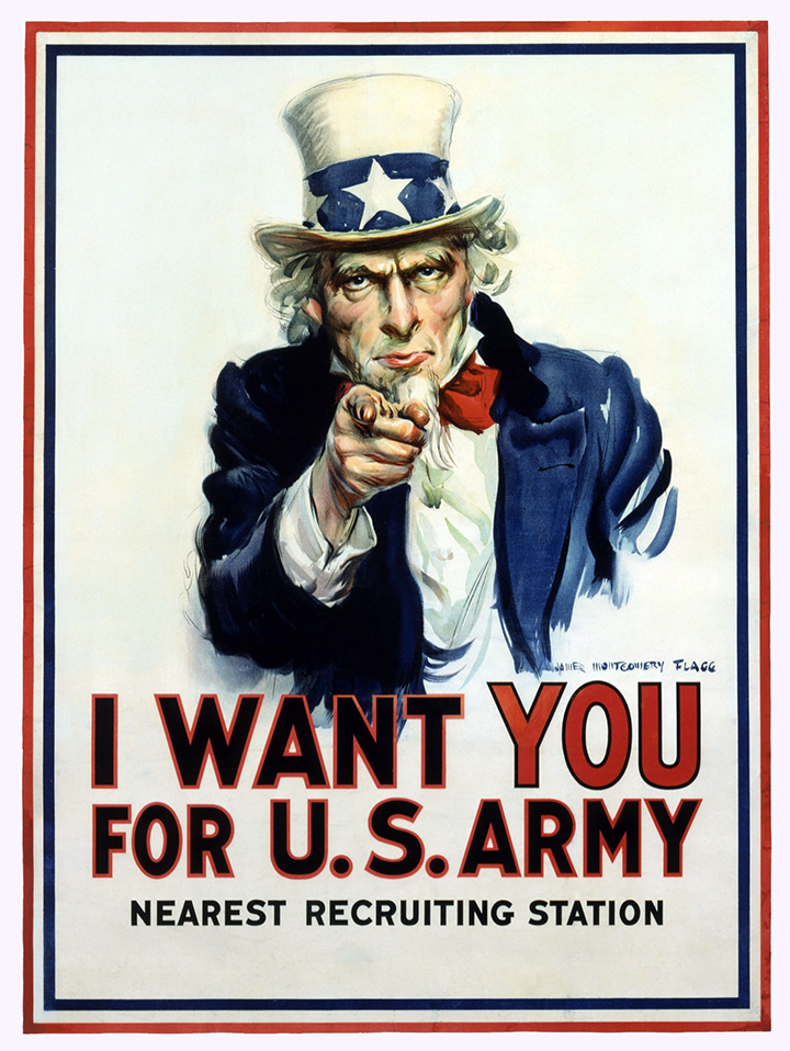 James Montgomery Flagg's-I-want-you-for-the-u.s.-army