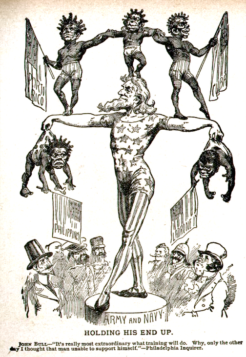 holding-his-end-up,-editorial cartoon, 1898