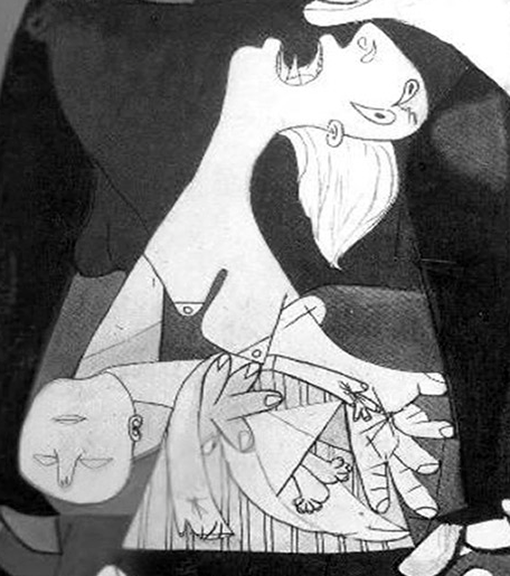 pablo-picasso's-guernica,-detail