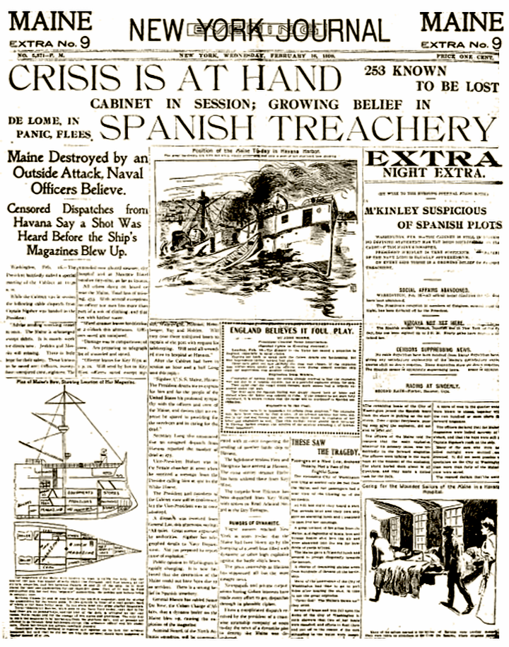 the-sinking-of-the-maine-headlines