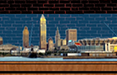 the cleveland skyline scale model