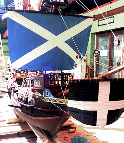 spanish-galleon-reconstruction,-by-john-rivera-resto,-2012,--detail-of-sails-and-rigging