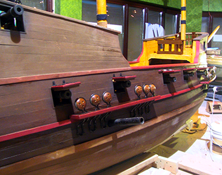 spanish-galleon-reconstruction,-by-john-rivera-resto,-2012,-detail-of-broadside-before-detailing