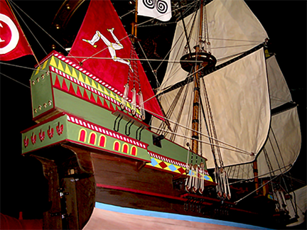 spanish-galleon-reconstruction,-by-john-rivera-resto,-2012,-detail-of-sail-rigging
