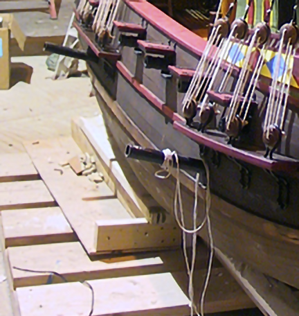 spanish-galleon-reconstruction,-by-john-rivera-resto,-2012,-hanging-pipes-detail