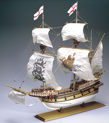 spanish-galleon-reconstruction,-by-john-rivera-resto,-2012,-scale-model-of-elizabethan-galleon