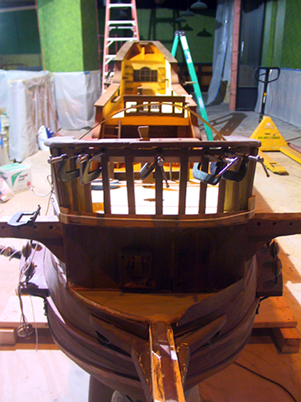 spanish-galleon-reconstruction,-by-john-rivera-resto,-2012,-upper-deck-woodwork-reconstruction