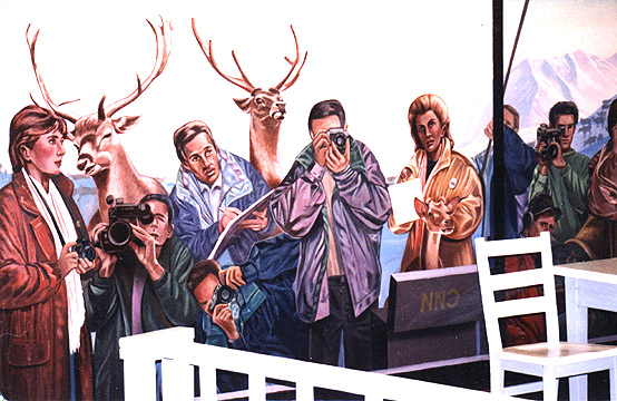 the reindeer monologues mural by John Rivera-Resto, 1997