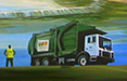 the waste management office mural
