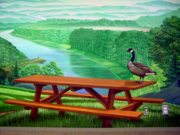 the adpro mural, goose detail