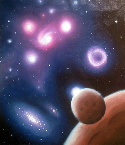 example of outerspace painting