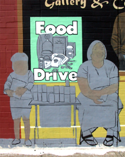 painting the food drive poster