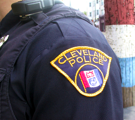 cleveland officer's shirt patch