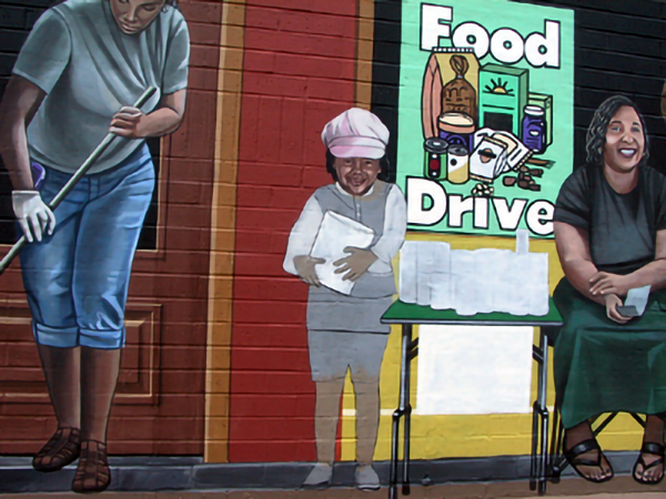 detail of food drive group progression