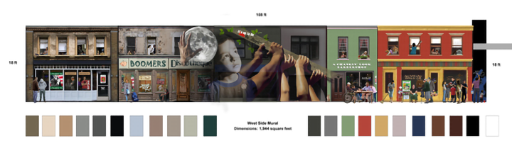 color chart for mural design