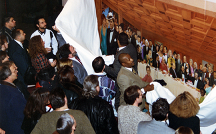 unveiling of the Thinkers Coffee House Mural, 1995