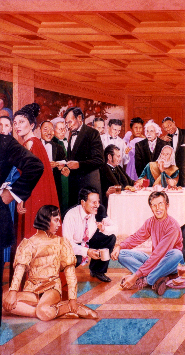 the Thinkers Coffee House mural, detail-1-1994