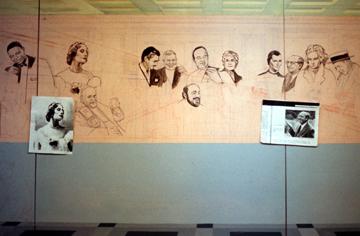 the Thinkers Mural, using phographic references and research