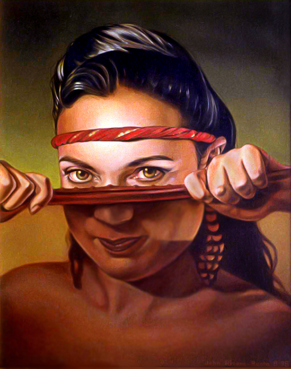 Kurana--painting-by-John-Rivera-Resto--1998